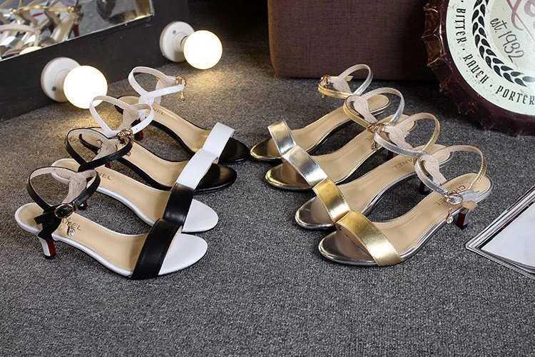 9d4443d10208 Chanel シャネル レディースシューズ/靴 新作のハイヒールのサンダルと髙の6CM黒色