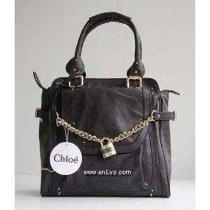 chloe black Tallow leather 7854