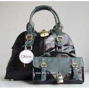 chloe black blue leather 50896