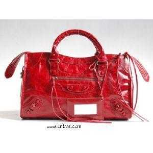 Balenciaga Motorcycle City Medium Size red cuticula nail handbag
