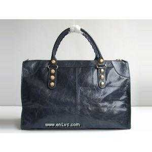 BALENCIAGA 084334B Valuable blue Jin dynasty nail handbag